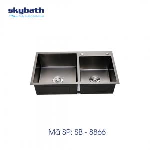 CHẬU ĐÚC INOX 304 PHỦ NANO SKYBATH MÃ SB-8866